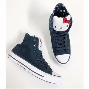 🔥Converse- Hello kitty Black high tops unisex🔥
